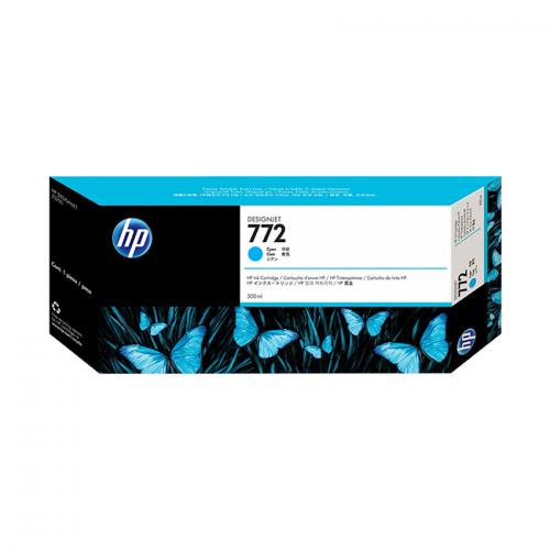 HP 772 Designjet Ink Cartridge - 300 ml Cyan