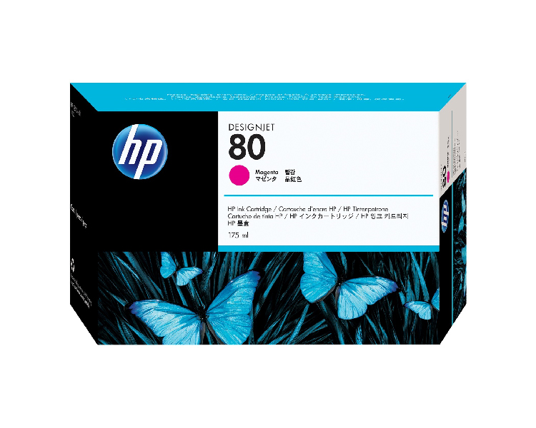 HP 80 Designjet Ink Cartridge - 175 ml Magenta