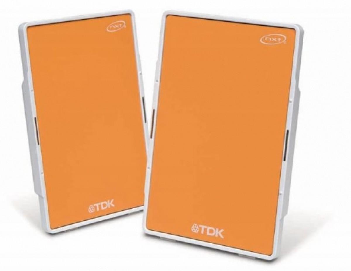 TDK Tremor Speaker Flat Panel Xa-10 Orange