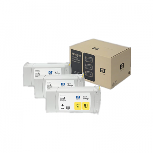 HP 81 Yellow Ink Cartridge 3-Pack 680ml