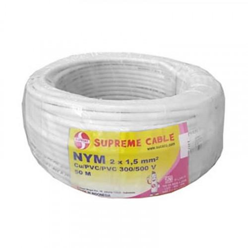 Supreme NYM 2x1.5mm - 100 Meter Kabel Listrik Rol