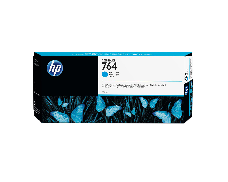 HP 764 Designjet Ink Cartridge - 300 ml Cyan