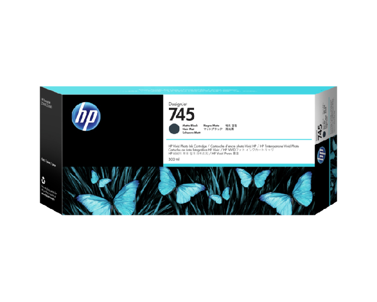 HP 745 Designjet Ink Cartridge - 300ml Matte Black