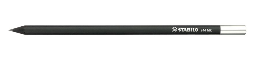 Schwan graphite pencil 2B black wood silver