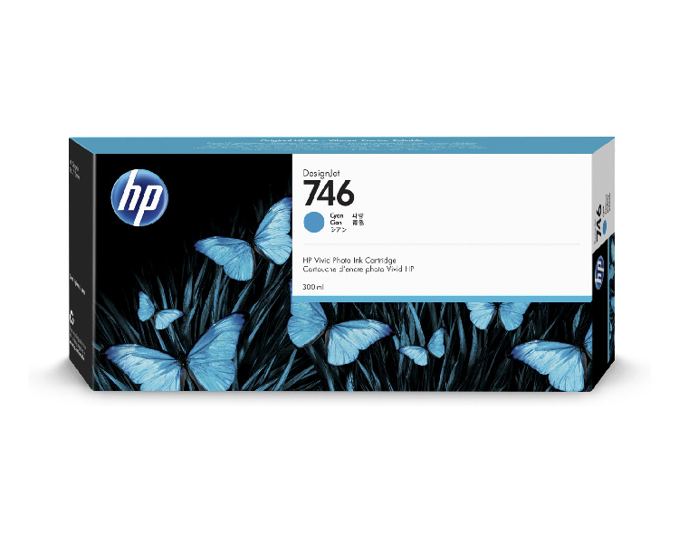 HP 746 Designjet Ink Cartridge - 300 ml Cyan