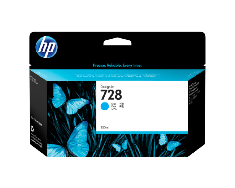 HP 728 Designjet Ink Cartridge - 130 ml Cyan