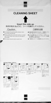 Epson Cleaning Sheet Paper