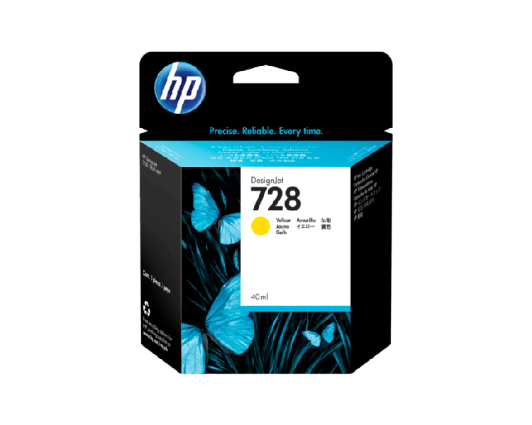 HP 728 Designjet Ink Cartridge - 40 ml Yellow
