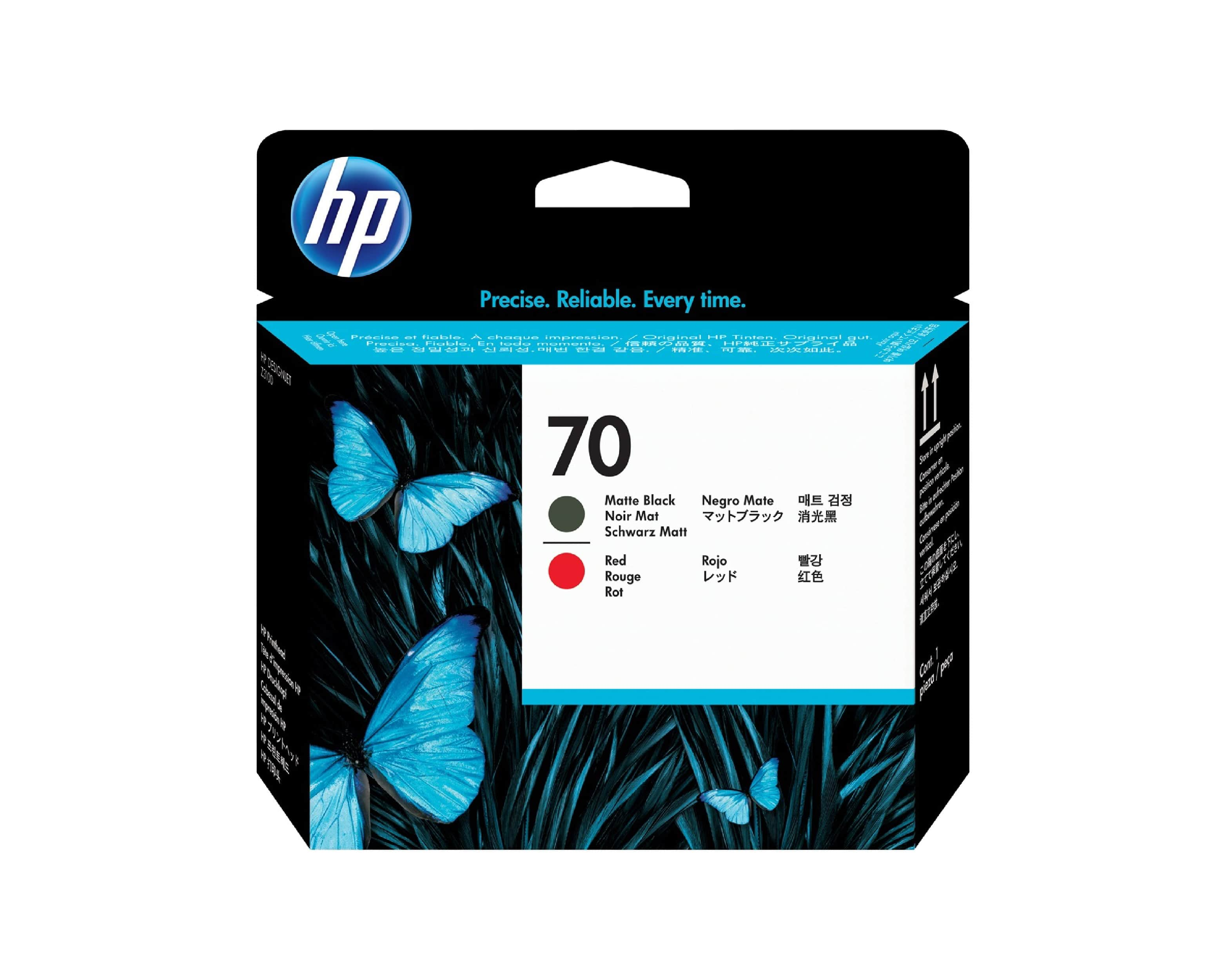 HP 70 DesignJet Printhead - Matte Black & Red
