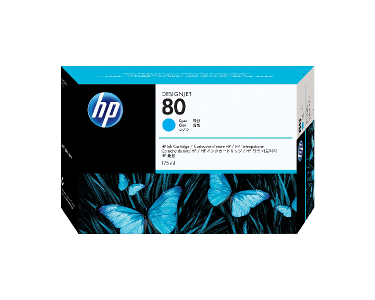 HP 80 Designjet Ink Cartridge - 175 ml Cyan