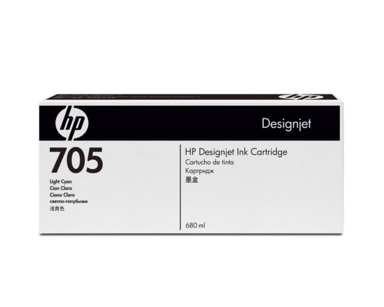 HP 705 DesignJet Ink Cartridge - 680 ml Light Magenta