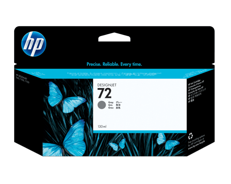 HP 72 Designjet Ink Cartridge - 130 ml Gray