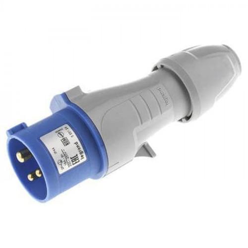 Legrand 2P+E 16A-250V Blue Steker Listrik Industri P17