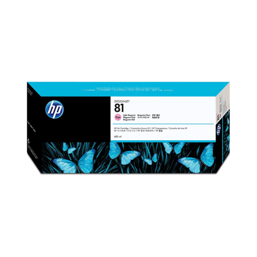 HP 81 DesignJet Ink Cartridge - 680 ml Light Magenta