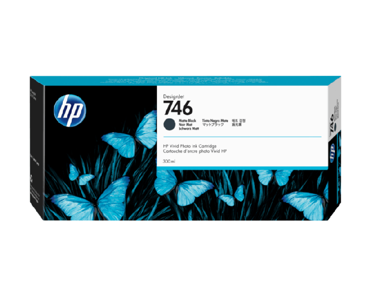 HP 746 Designjet Ink Cartridge - 300 ml Matte Black