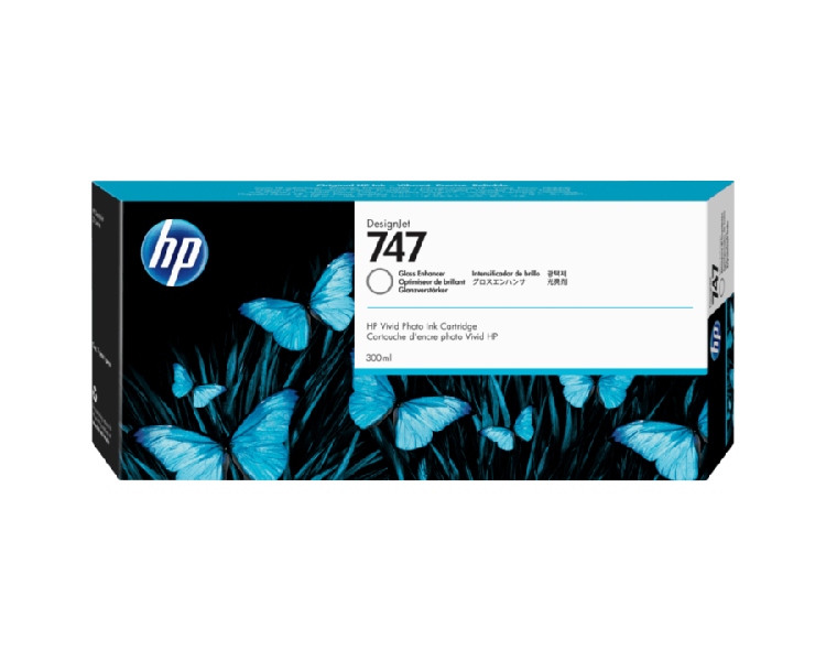 HP 747 Designjet Ink Cartridge 300ml Gloss Enhancer