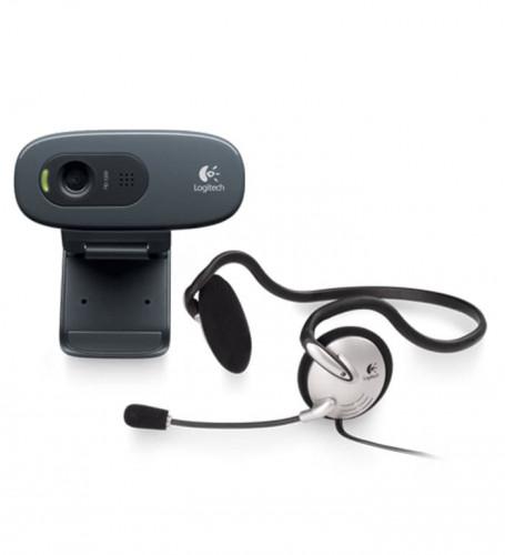 Logitech C270 HD + Mono Headset