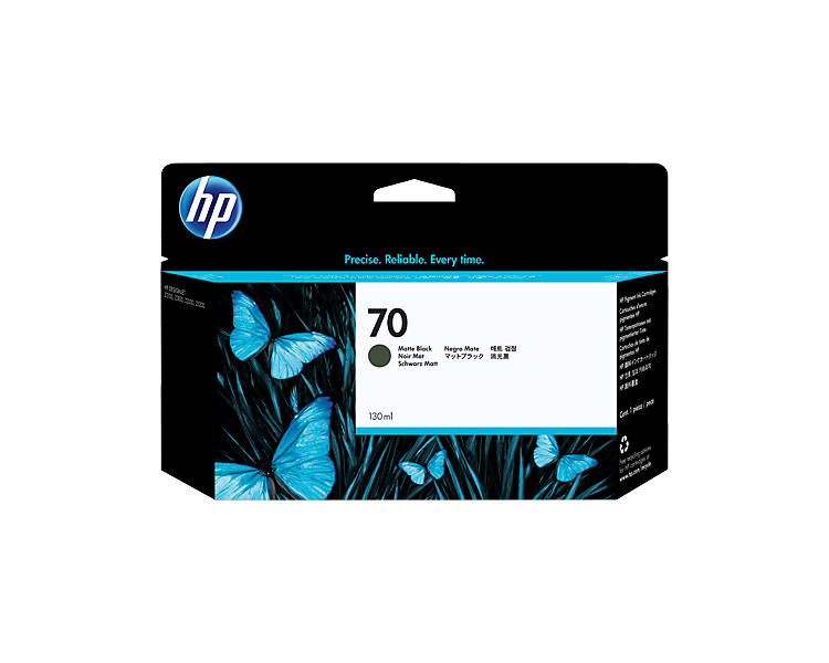 HP 70 Matte Black Designjet Ink Cartridge - 130 ml